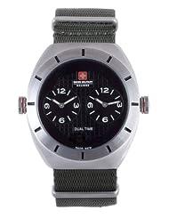 Swiss Military Calibre Men's 06-4C1-04-007T6 Commando Dual Time Zone Luminous Khaki Green Watch