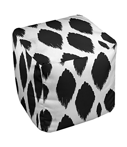 E by design FG-N15-White-18 Geometric Pouf