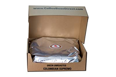 Green Unroasted, Colombian Supremo, 25-Pound from Coffee Bean Direct
