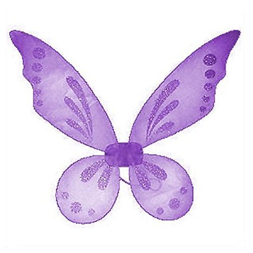 Lavender Pixie Fairy Wings Tinkerbell Princess Tutu Dress Up Costume front-800577