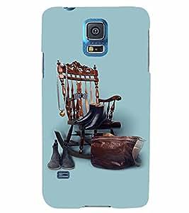 PrintVisa Cool Boy 3D Hard Polycarbonate Designer Back Case Cover for Samsung Galaxy S5