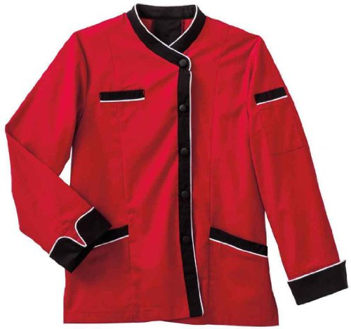 Five Star 18038 Women's LS Executive Chef Coat Red XX-Large (Five Star Chef Apparel compare prices)