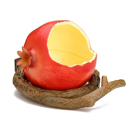 Pomegranate Plastic Bird Cup Bird Food Feeder