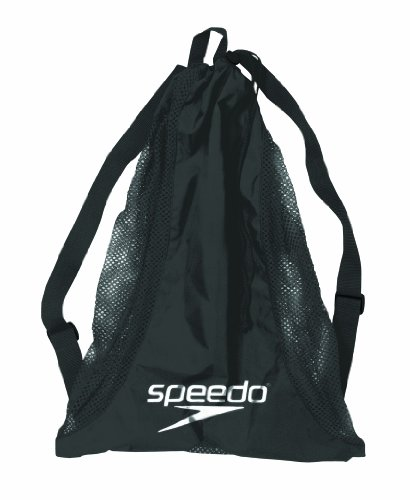 Speedo Deluxe Mesh Equipment Bag (Black)