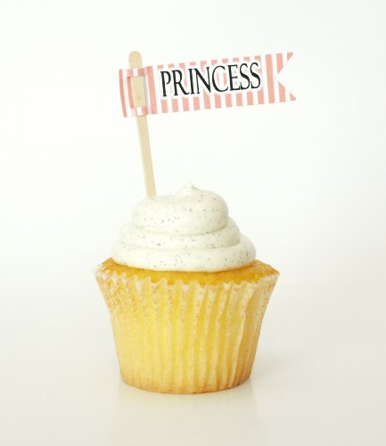 """Princess"" Party Cupcake Toppers, Pink (Set Of 12) - Little Girl Birthday Parties, Pink Party Decorations back-965259"