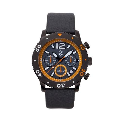 IZOD Men's IZS6/1 BLK/ORANGE Sport Quartz Chronograph Watch