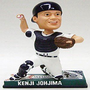 Buy Low Price Forever Collectibles Seattle Mariners Kenji Johjima Forever Collectibles On Field Bobble Head Figure (B0016A69BC)