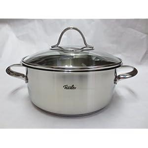 【クリックで詳細表示】Fissler ( フィスラー ) キャセロール ステンレス 鍋 浅鍋 両手鍋 20cm パリ 電磁調理器対応