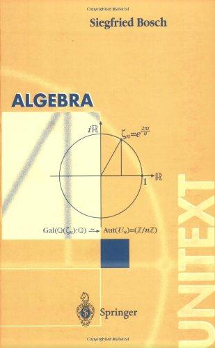 Algebra (UNITEXT / La Matematica per il 3+2) (Italian Edition)