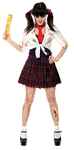 Papermagic Womens Zombie Zone Charm School Girl Theme Party Halloween Costume