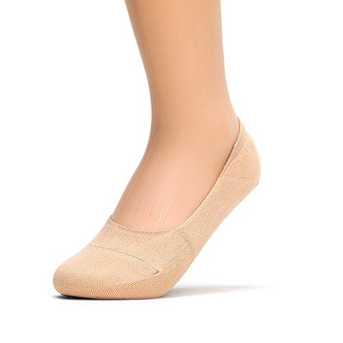 sockstheway Calze antiscivolo no show da donna, taglio basso Liners Beige - 1 Pair 37-39,5