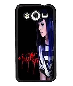Fuson Hurted Girl Back Case Cover for SAMSUNG GALAXY CORE 2 - D3887