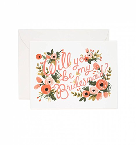 Rifle Paper Co Will You Be My Bridesmaid Card (Set of 8)
