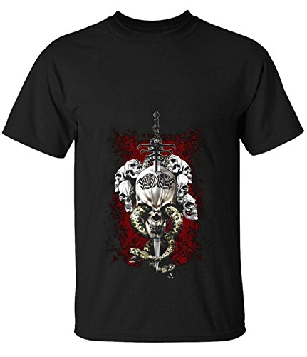Tsuyokiss men's Desert Skull classic short sleeve t-shirt black (Lil Roughneck compare prices)