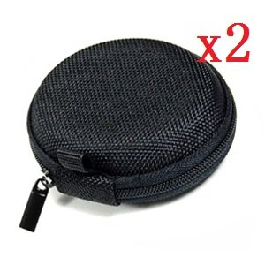 Bluecell 2 Pcs Of Black Bluetooth Handsfree Headsets Hard Eva Case/Bag For Jawbone Era Icon Hd & Icon