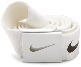Nike Web Belt (White, One Size, Adjustable Up To 42) Golf