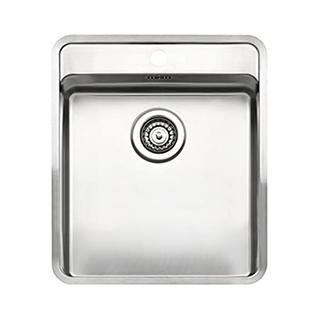 Reginox Ohio 40x40 1.0 Bowl Satin Stainless Steel Undermount Kitchen Sink by Reginox
