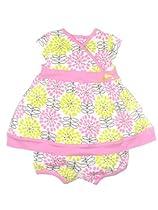 Offspring - Baby Apparel Baby-Girls Newborn Daisy Dress, Pink, 9 Months