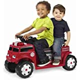 Radio Flyer Battery-Operated Fire Truck for 2 with Lights and Sounds - Children's Powered Ride-Ons - Battery and charger included
