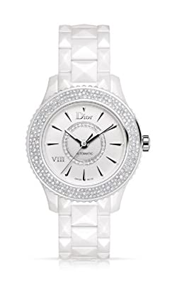New Ladies Christian Dior VIII Huit Eight Automatic Ceramic Watch CD1245E5C001