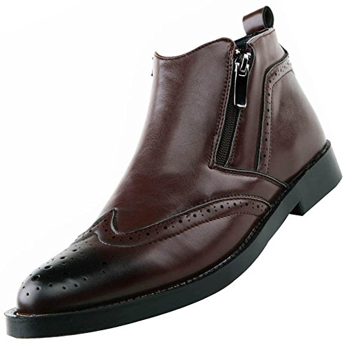 Odema Men's Wingtip Double Zip Chukka Boot