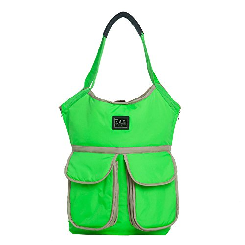 7AM Enfant Barcelona Diaper Bag, Neon Green
