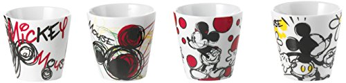 Disney PWM83/4T Mickey Mouse Set 4 Bicchierini Caffe