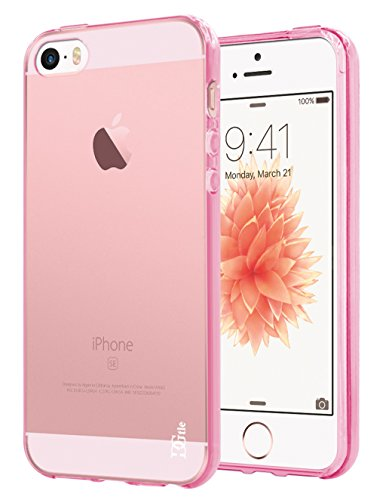 iPhone SE / 5S / 5 Case, DGtle Anti-Scratches TPU Gel Premium Slim Flexible Soft Bumper Rubber Protective Case Cover for Apple iPhone SE / 5S / 5 (Hot Pink) (Hot Pink Iphone 5 Case compare prices)
