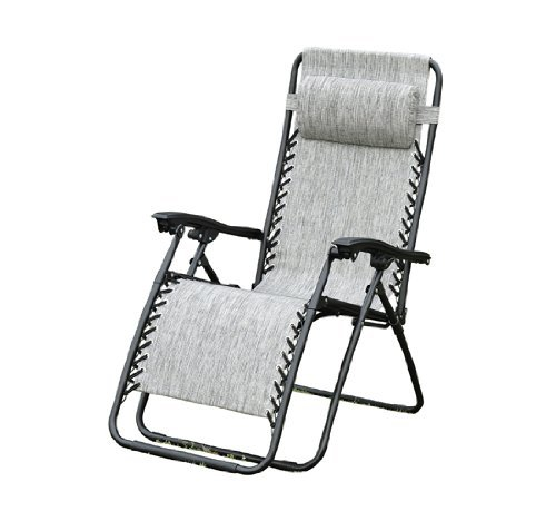Outsunny Zero Gravity Recliner Lounge Patio Pool Chair, Granite Gray