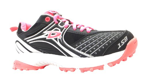 Girl's Kid Dita Black/fluo Pink Lightweight Lace Up Hockey Trainers