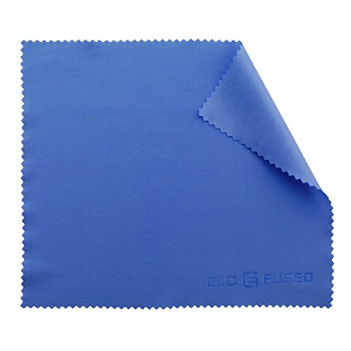 ECO-FUSED 6 pieces pack of Microfiber Cleaning Cloth for Cell Phones like iphones, Samsung, HTC, Blackberry, Camera Lenses, tablets, Silverware, Glasses, Watches and Other Delicate Surfaces (Blue)