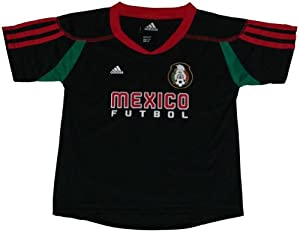 Mexico 2010 World Cup Soccer / Futbol Practice Call-Up Black Youth Jersey Large 14-16