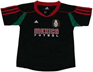 Mexico 2010 World Cup Soccer / Futbol Practice Call-Up Black Youth Jersey Medium 10-12