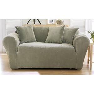 Amazon Stretch Pique Sofa Slipcover Box Cushion