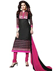 Glitzy Cotton Semi Stiched Salwar Suit - B016N6VJHW