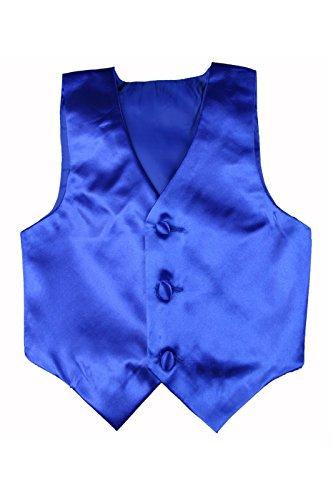 Baby Toddler Kids Little Boys Formal 23 Color Satin Vest S-7 (M:(6-12 months), Royal Blue) (Toddler Blue Tuxedo)