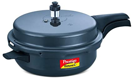 Prestige-Deluxe-Plus-6-L-Senior-Pan-Hard-Anodized-Pressure-Cooker-(Induction-Base,-Outer-Lid)
