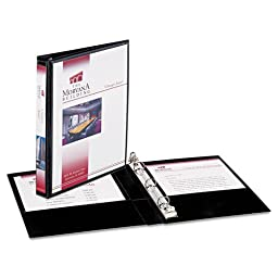 Avery Durable View Binder with Round Rings, 5-1/2\