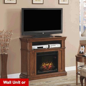 Classicflame Oakfield Wall/Corner Electric Fireplace Media Center In Premium Pecan Birch - 23De8202-P273
