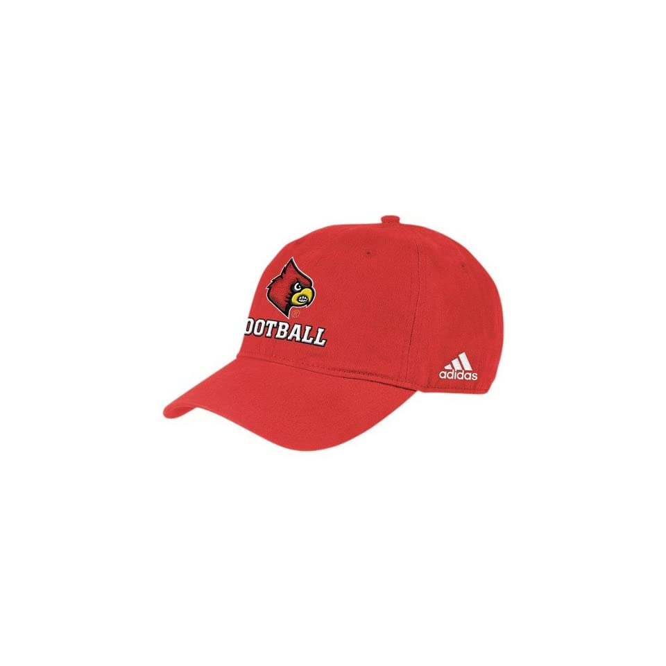 adidas Louisville Cardinals Red Football Slouch Hat