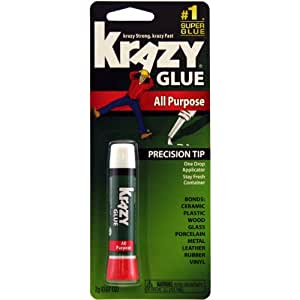 Krazy Glue KG585 Instant Krazy Glue All Purpose Tube 0.07-Ounce