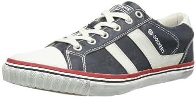 Dockers 342372-030387, Chaussures de sports extérieurs homme - Bleu (Navy/Offwhite), 40 EU