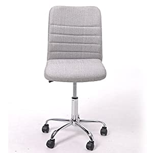 GreenForest Comfortable Home Desk Chair with Fabric Upholstery,Silver