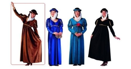 Renaissance Queen (Brown Suede) Adult Costume Size Standard