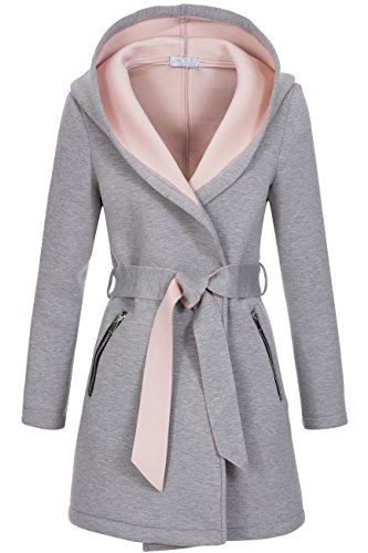 Peak Time -  Cappotto  - Impermeabile - Donna grigio Large