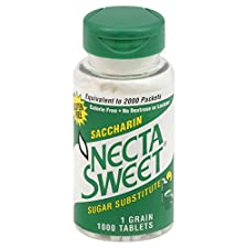 Necta Sweet Sugar Substitute, Saccharin, Tablets, 1000 tablets