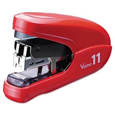 Max USA HD11FLKRD Flat Clinch Light Effort Stapler, 35-Sheet Capacity, Red