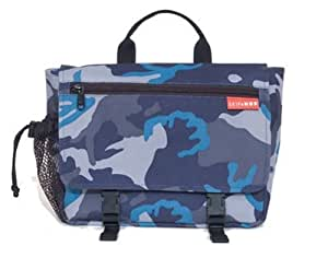 skip hop saddle bag blue camo discontinued by manufacturer diaper tote bags baby. Black Bedroom Furniture Sets. Home Design Ideas