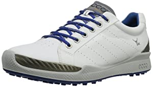 ECCO Men's BIOM Hybrid Golf Shoe,White/Royal,47 EU/13-13.5 M US