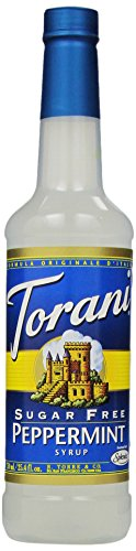 Torani Sugar Free Syrup, Peppermint, 25.4 Ounce (Pack Of 4)